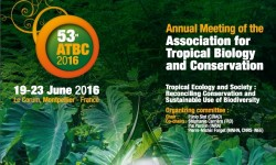 "ATBC 2016 : Caribaea Initiative will take part of the symposium from 19 - 23 June 2016 / FranceCaribaea Initiative will sponsor a symposium ""Developing research capacity on biodiversity and conservation: a Caribbean challenge"" during the 53rd Conference of the Association for Tropical Biology and Conservation.© ATBC 2016"